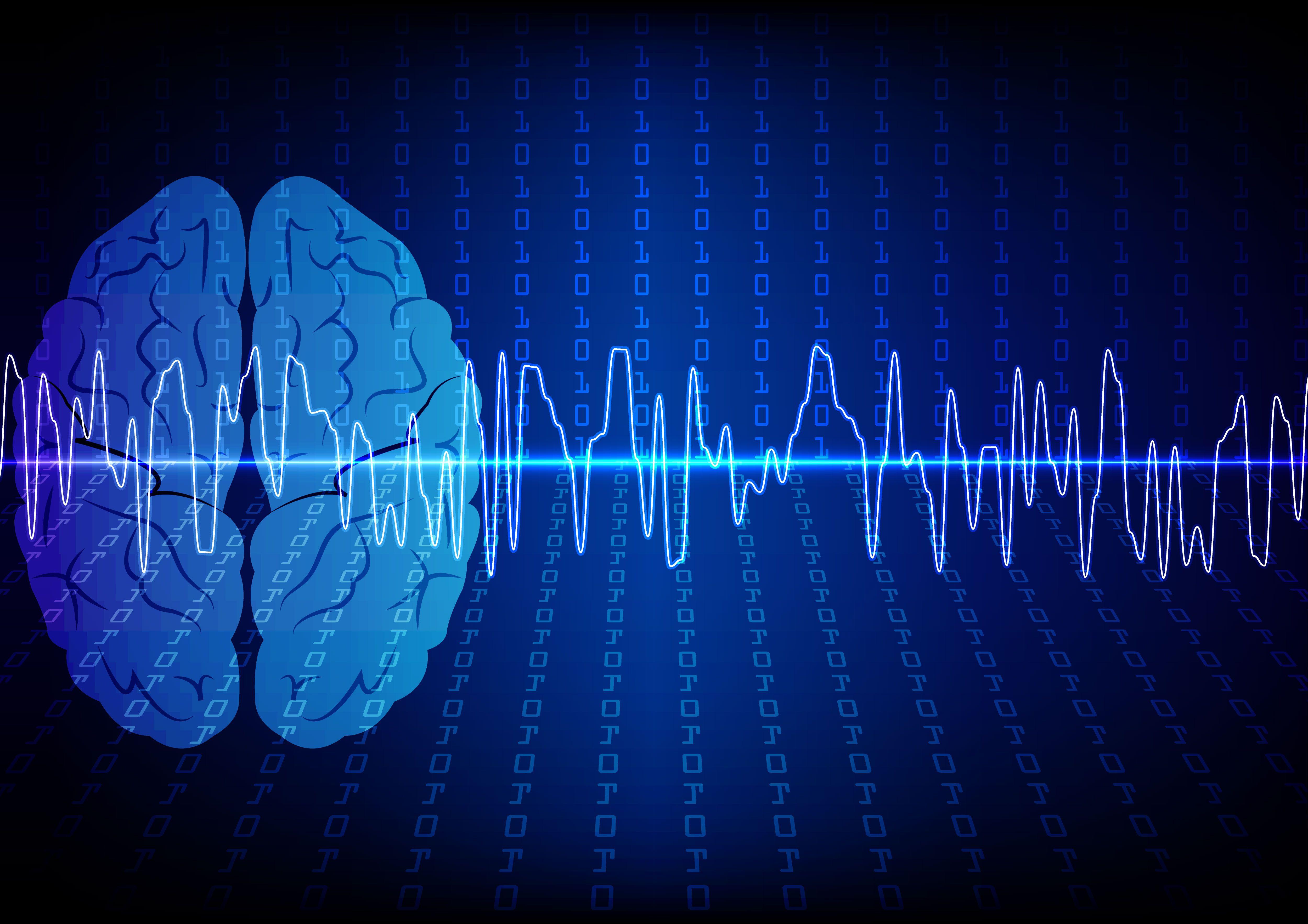 brain with brainwaves